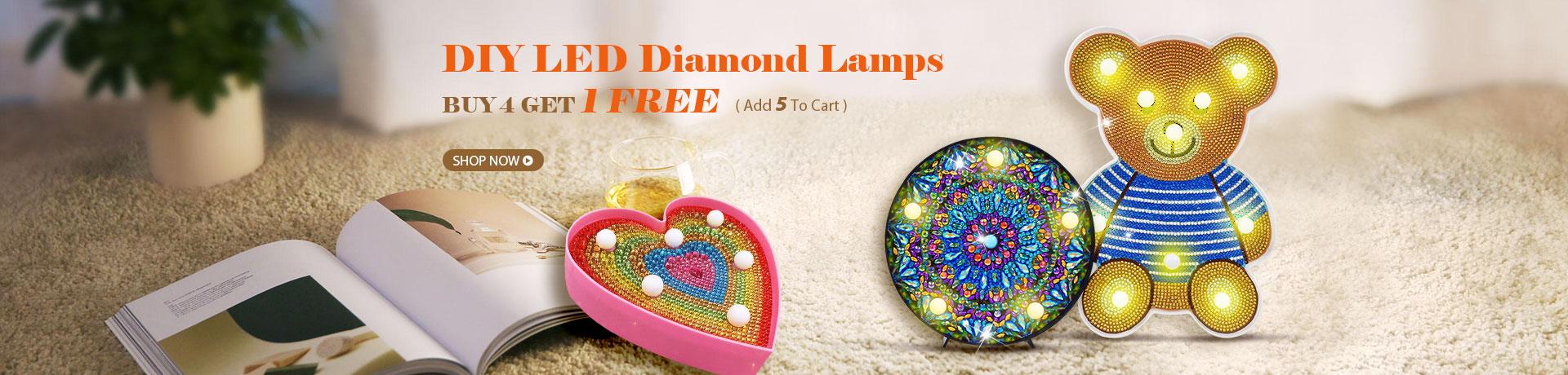 DIY LED Diamond Lamps