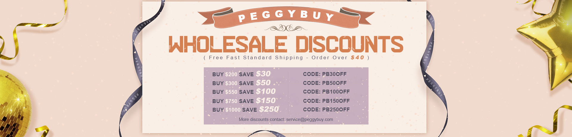 Sitewide Wholesale Discount